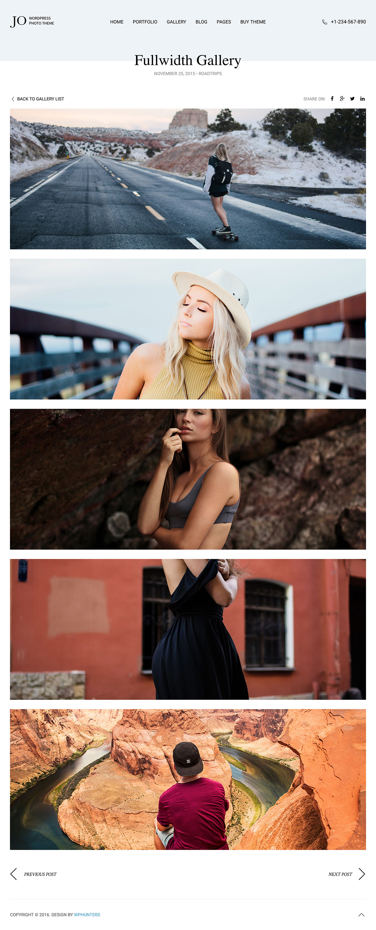 Jo - Portfolio Photography WordPress Theme