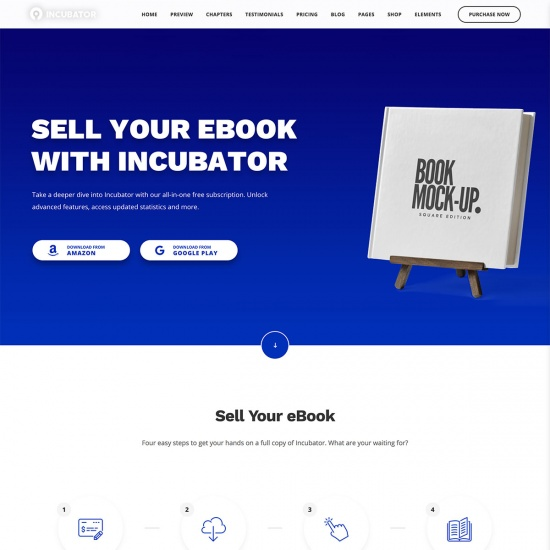 Incubator - eBook WordPress Theme