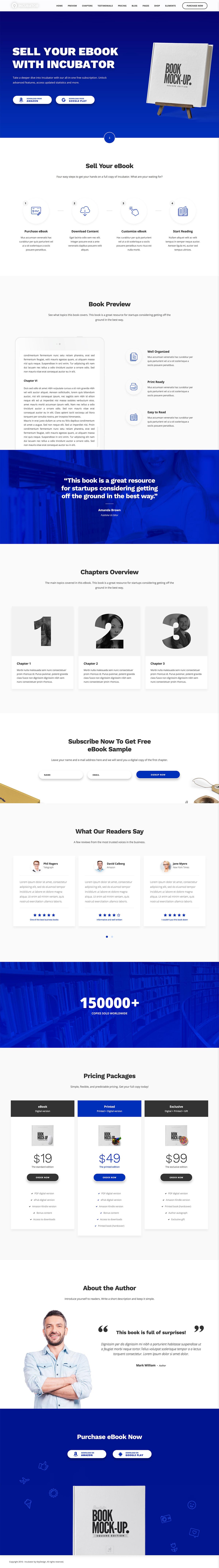 Incubator - eBook WordPress Theme