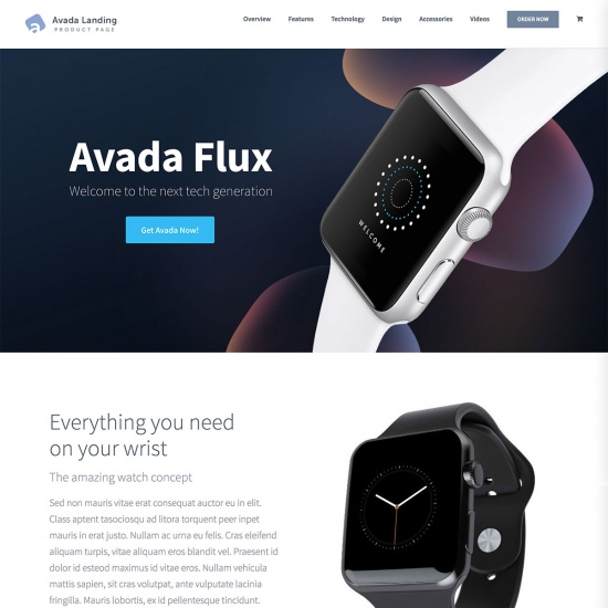 Avada - Landing Product Theme for WordPress
